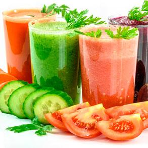 zumos naturales vegetales