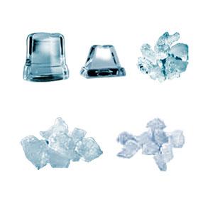 Hielos que se fabrican en diferentes máquinas de hielo