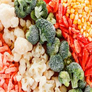 Nutritivas verduras congeladas