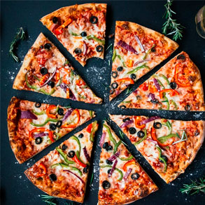 Pizzas congeladas de buen sabor