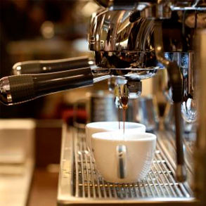 Cafetera industrial para bar