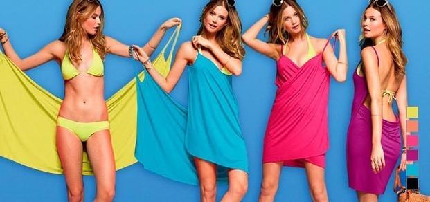 Bikini Wrapp. Vestido-Pareo en diferentes colores para lucir genial este verano. Talla única ajustable.