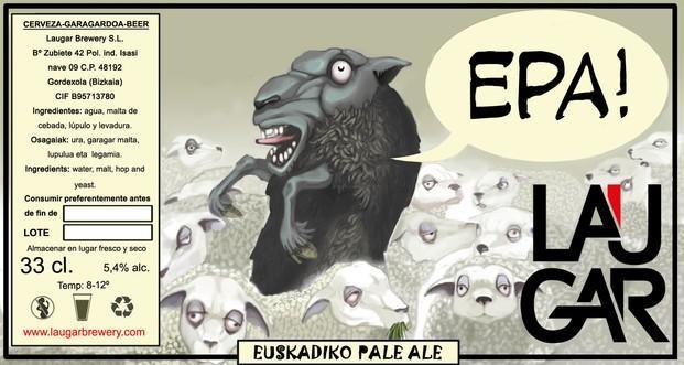 EPA!. Etiqueta de nuestra cerveza EPA!