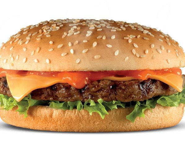 Cheese Burger. Cheeseburguer lista para servir en 80 segundos