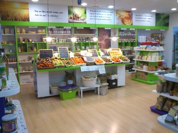 La fruta y verdura. Vista de una de las zonas ecológicas