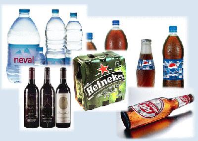 Distribuidor bebidas. Cerveza, agua y todo tipo de bebidas