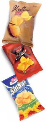 Aperitivos y snacks. Algunas de nuestras patatas fritas