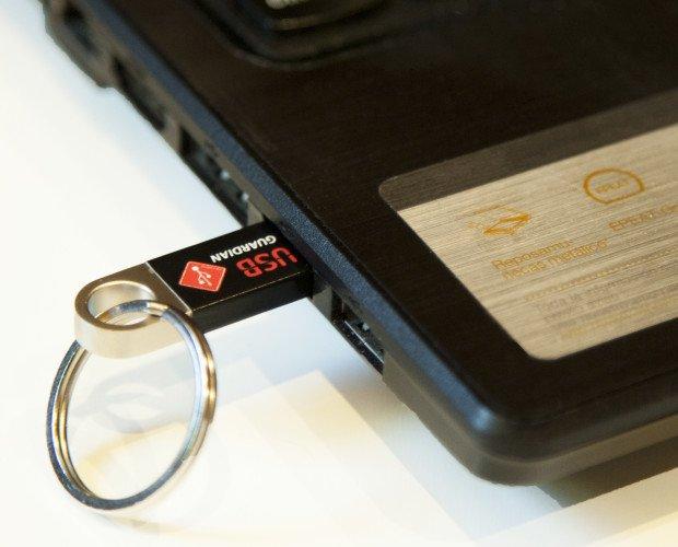 USB Guardian 03 ok. Cuando insertamos nuestra llave digital en un puerto USB nos abre los puertos , aceptando todos los dispositivos