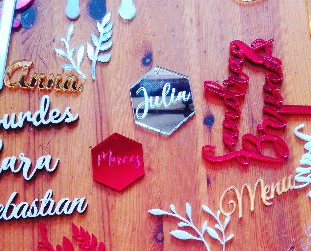 Corte Logotipos. Excelentes acabados en madera
