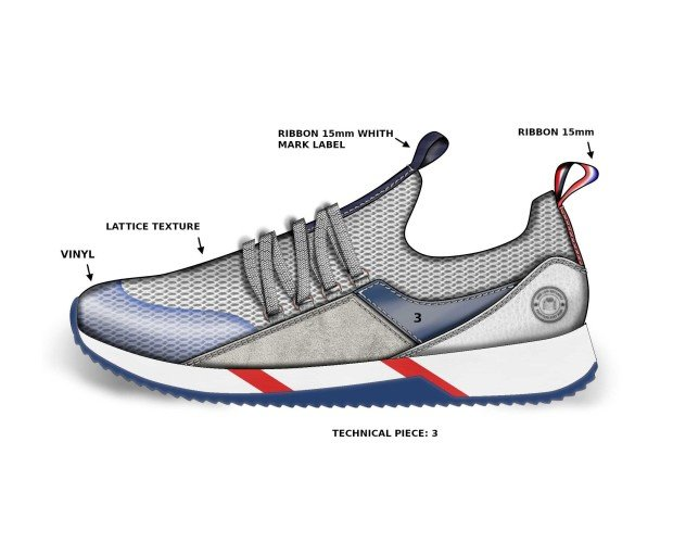 Diseño de Calzado.Modelo tipo jogging