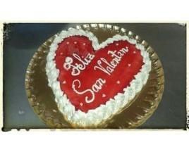 Tarta San Valentín. Para festejar ese día tan especial y compartir con tu pareja.