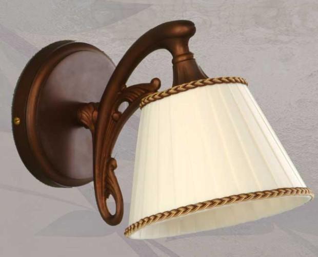 Lámparas de Pared.13 x 30cm Latón, pantalla de tela y cuero mate