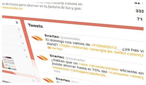 Twitter Enertec. Gestión de redes sociales para Enertec
