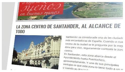 Web Pisos Cantabria. Buscador online de inmobiliaria Pisos Cantabria