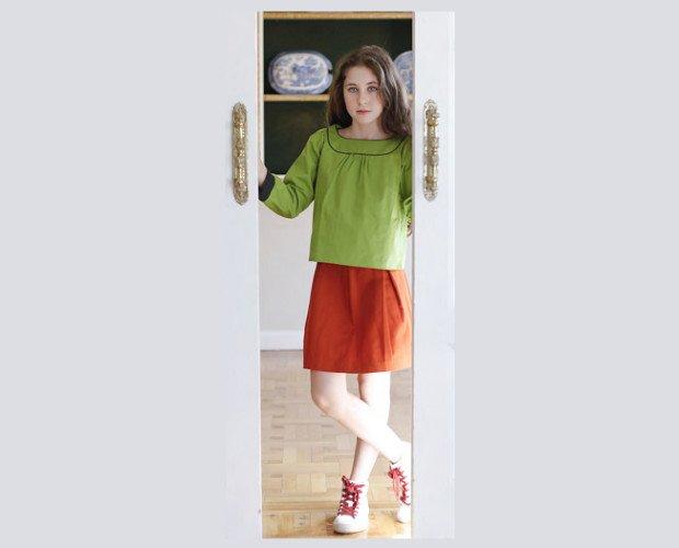 Faldas Infantiles.Falda y camisa la mejor combinación