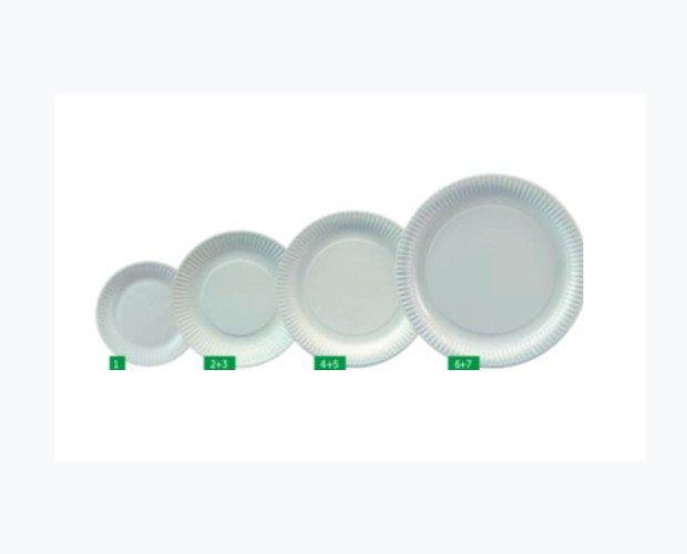 Platos de Fibra de Cartón. Diámetro disponible: 15cm, 19cm, 20cm, 23cm, 26cm y 29cm