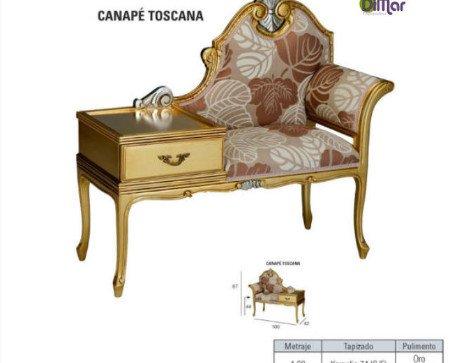 Canapé Toscana. Diseño europeo