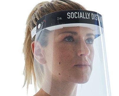 Pantalla protectora facial. Producto muy demandado