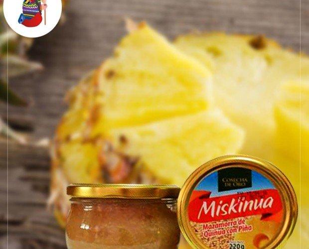 Mazamorra de quinua con piña. Excelente combinación