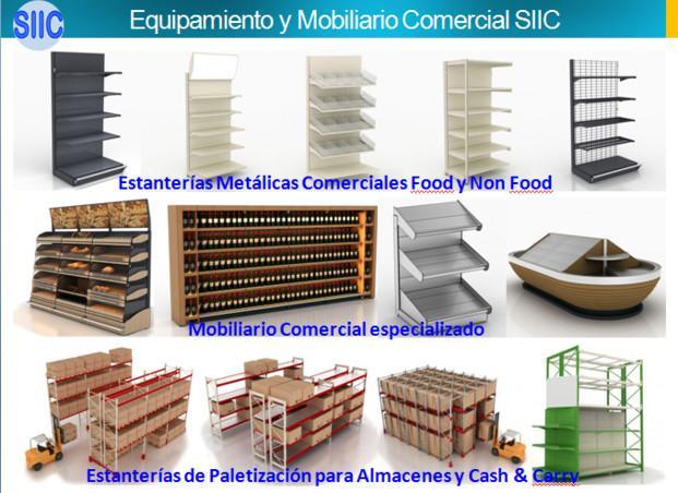 Equipamiento Comercial SIIC IBERIA. Estanterías metálicas comerciales
