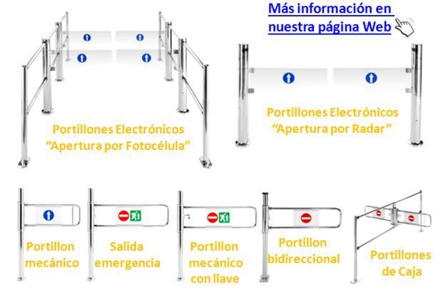 Banderolas.Portillones Electrónicos y manuales