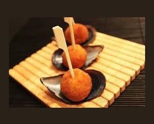 Mejillones. Croquetas de Mejillones en Escabeche
