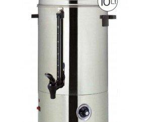 Termo de agua 10 litros. Acero inoxidable 100%. Control de temperatura por termostato Indicador de nivel. Micro de seguridad. Protección por la falta de agua.