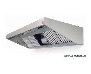 Campana pared monobloc. Laterales con inclinación y frontal de 150mm.Disponible con fondo 750 mm y 1200 mm.