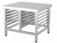 Mesa soporte horno con guías soldada