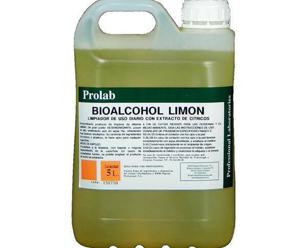 Limpiador de uso diario. Limpiador bioalcohol limón