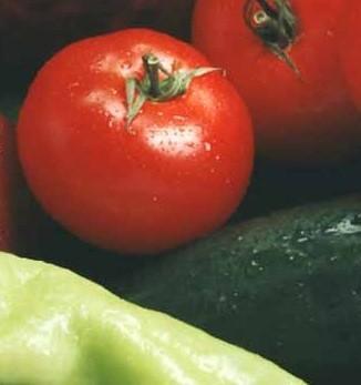 Vegetales. Cebollas, patatas, tomates