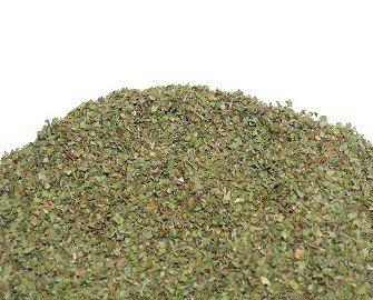 Mejorana. Compuesto por pequeñas hojas y trozos de hojas