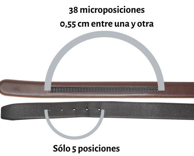 Sistema de ajuste. Nuestro sistema de microajustes, para todas las cinturas.