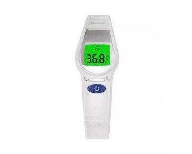 Termómetro digital. La medición se realiza de forma instantánea en 1 segundo sobre la frente del usuario.