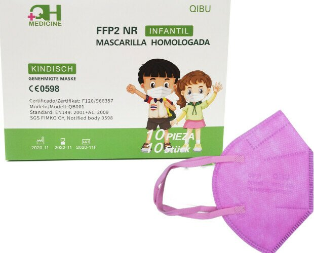 Mascarilla FFP2 infantil. Mascarillas FFP2 NR talla infantil y junior, en colores y estampados infantiles