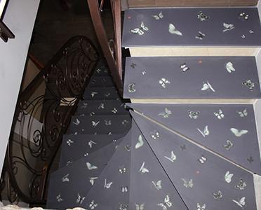 Escaleras.Escalera de vidrio personalizada antideslizante