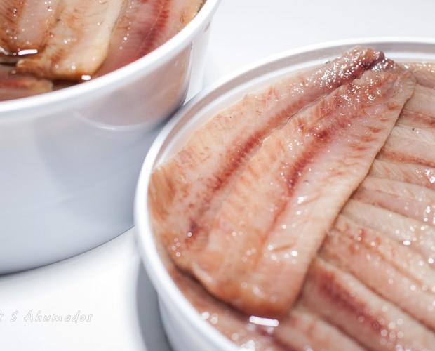 Sardina ahumada. Lomos de sardina ahumada