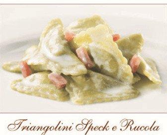 Triangolini peck e rucola. Tradición