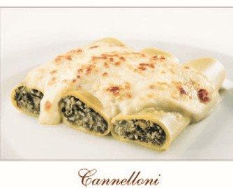 Cannelloni. Distinto rellenos