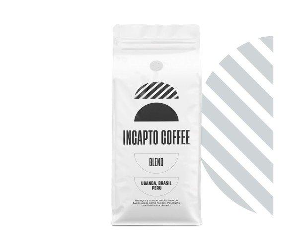 Café Blend Uganda, Brasil y Perú. Amargor y cuerpo medio, base de frutos secos como nueces. Con final achocolatado