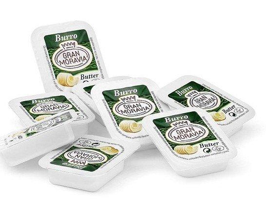 Mantequilla cremosa. En envases cómodos de 10g.