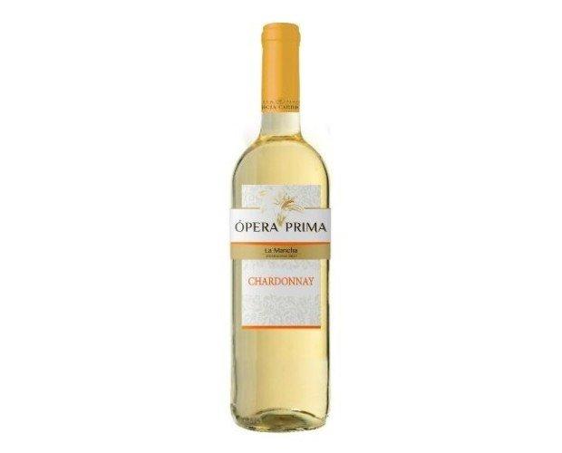 Vino Blanco Ópera Prima. Vino Blanco D.O La Mancha Chardonnay