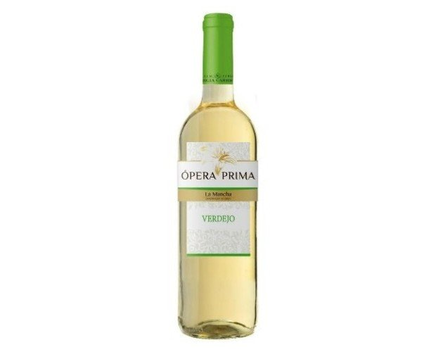 Vino Blanco Ópera Prima Verdejo. Vino Blanco D.O La Mancha Verejo