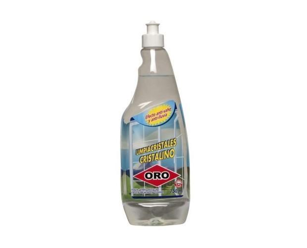 Limpiacristales Cristalino. Limpia eficazmente los cristales y abrillanta las superficies acristaladas. Se puede aplicar en todo tipo de superficies rígidas del hogar: azulejos, sanitarios, electrodomésticos, etc.