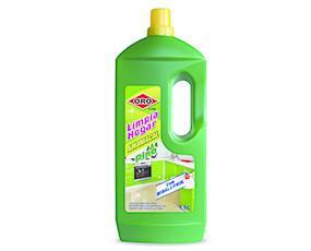 Limpiahogar Amoniacal Pino 1,5L Oro. Limpiahogar multiuso con amoniaco y perfume Pino Limpia eficazmente y en profundidad las suciedades más difíciles...