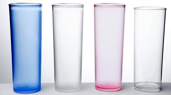 Vasos de plástico. Alta resistencia, para lavavajillas industriales