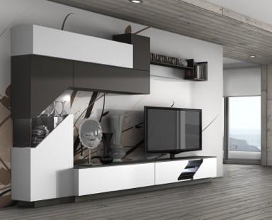 Mobiliario de Salón.Composición de salón diseñado para un fabricante de Jaen