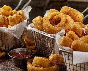 Productos congelados. Varitas, nuggets, patatas fritas, etc.