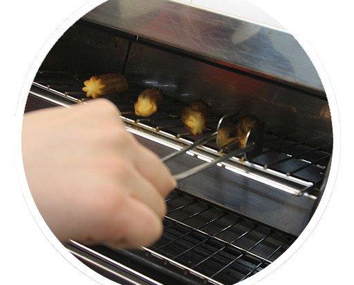 Segundo paso. Colóquelos en una tostadora o merrycheff a 200°C