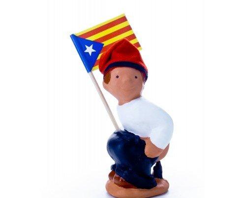 Figura de Caganer Independencia. Regalos temáticos